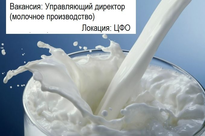 Управляющий директор (молочное производство)